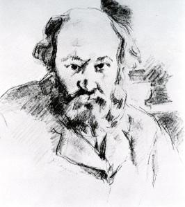 porträtt i svartkrita