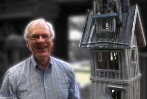 Kjell Sundberg i ateljén