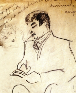 porträtt 1920 från resa på Rivieran