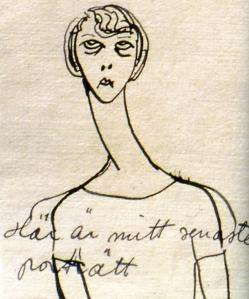 Självporträtt av Astri